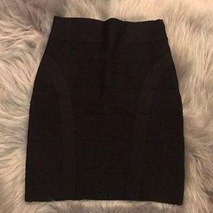 Black Bebe mini skirt